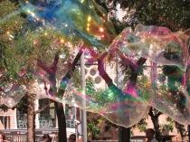 In park near Sagrada Familia