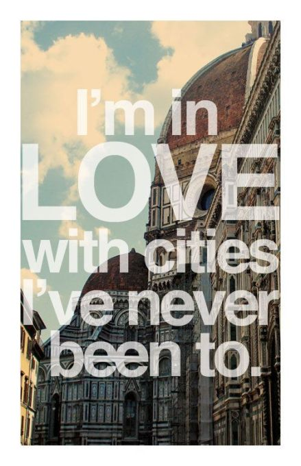 in love with cities