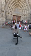 Entertainer In front of Cathedral