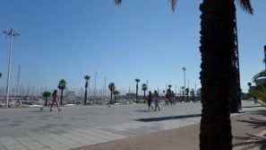 Promenade along the marina
